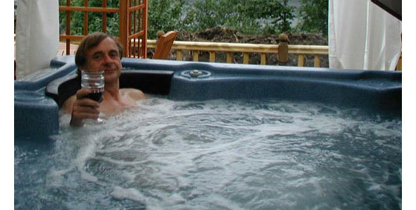 hot tub relaxing